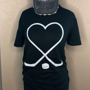 🆕Black Hockey Lover Shirt Bella Canvas Unisex Tee